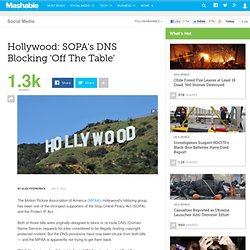 "Hollywood: SOPA/PIPA DNS Blocking ""Off The Table"""