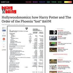 "Hollywoodonomics: how Harry Potter and The Order of the Phoenix ""lost"" $167M"