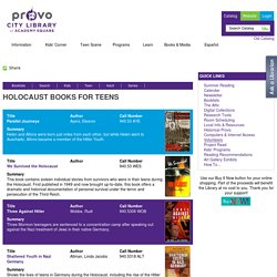 Holocaust Books for Teens