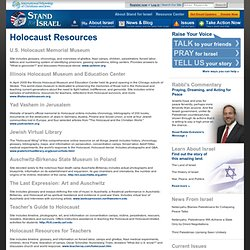 Stand for Israel: Holocaust Resources
