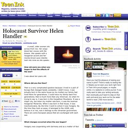 Holocaust Survivor Helen Handler