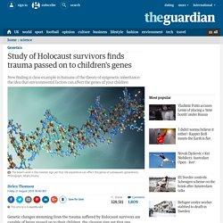 Study of Holocaust survivors finds trauma passed on to children's genes