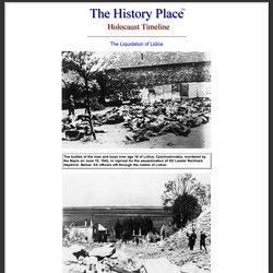 Holocaust Timeline: Nazis Liquidate Lidice