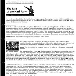 Holocaust Timeline: The Rise of the Nazi Party