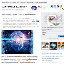 The Holographic Universe: 12 Keys for Higher Awareness