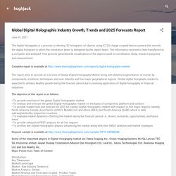 Global Digital Holographic Industry Growth, Trends and 2025 Forecasts Report