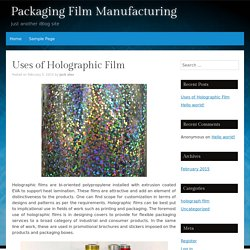 Packaging Film Manufacturing