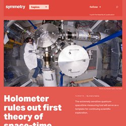 Holometer rules out first theory of space-time correlations