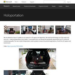 Holoportation - Microsoft Research