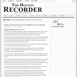 Holton Commissioners Award Bid For Sewer Repair
