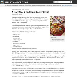A Holy Week Tradition: Easter Bread