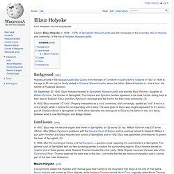 Elizur Holyoke