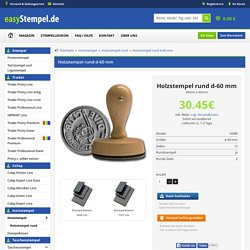 Holzstempel rund d=60 mm bei Easystempel.de