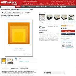 Homage To The Square Posters by Josef Albers