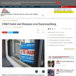 CD&V botst met Homans over huurwaarborg (Brussel)