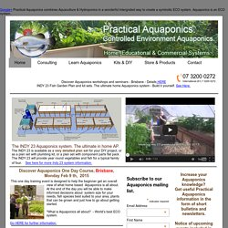 Murray Hallam's Practical Aquaponics. Aquaponics from a practical perspective.