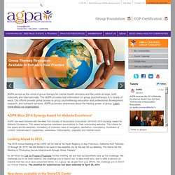 Welcome to the American Group Psychotherapy Association! www.agp