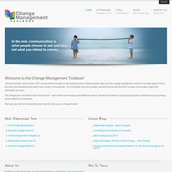 Change Management Toolbook
