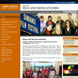 JHU Film and Media Homepage