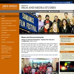 JHU Film and Media Homepage