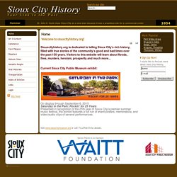 Sioux City History Website