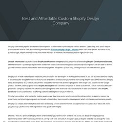 Leading Shopify Design and Development Company