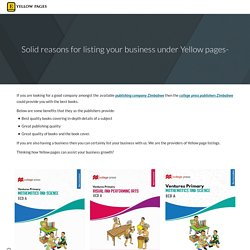 Solid reasons for listing your business under Yellow pages-