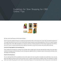Guidelines for Slow Shopping for CBD Online 7 Tips