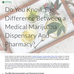 Do You Know The Difference Between a Medical Marijuana Dispensary And Pharmacy?