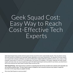 Geek Squad Cost: Easy Way to Reach Cost-Effective Tech Experts