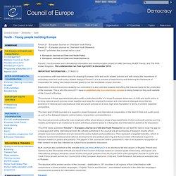 revue jeunesse conseil de l'europe