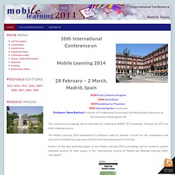 IADIS Mobile Learning 2010