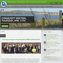 Home | Missouri Coalition for the Environment