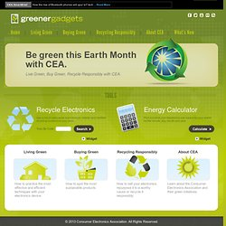 Greener Gadgets › Home