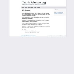 Travis Johnson.org website