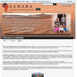 Social Aspects of HIV/AIDS Research Alliance-SAHARA