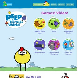 PEEP and the Big Wide World: Interactive Games