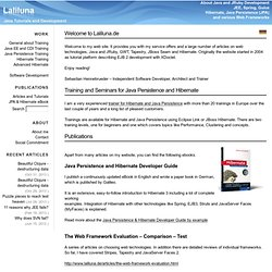 LaLiLuna - Tutorials for Struts, JavaServer Faces, JSF, EJB, Hibernate, Eclipse, JBoss, Tomcat, ...
