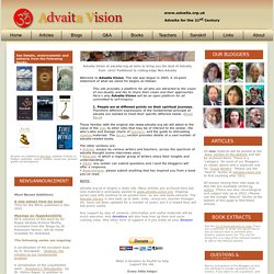 Advaita.org.uk - Back to the Truth - 5000 years of Advaita