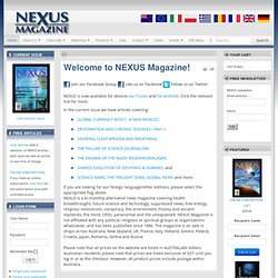 Welcome to NEXUS Magazine!