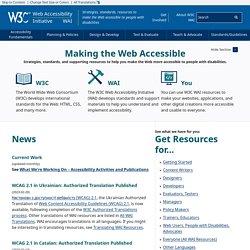 Web Accessibility Initiative (WAI) - home page