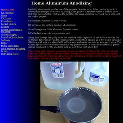 Home Aluminum Anodizing