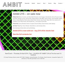 Ambit magazine | a 96 page quarterly magazine that features poetry, prose and artwork