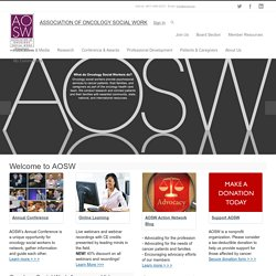 AOSW :: Association of Oncology Social Work