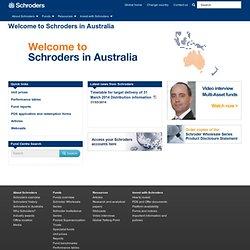 Home - Australia - Schroders