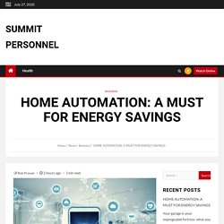 Home Automation A Must For Energy Savings
