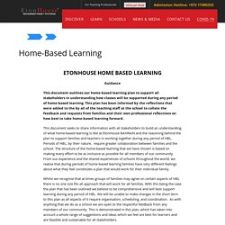 Home-Based Learning