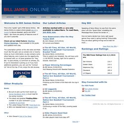 Home | Bill James Online