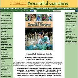 Home page,Bountiful Gardens website,Bountiful Gardens home