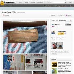 Home Brew PCBs
